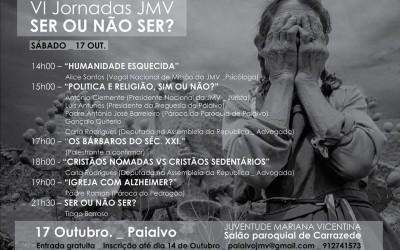 «Ser ou não ser», jornadas nacionais da Juventude Mariana Vicentina