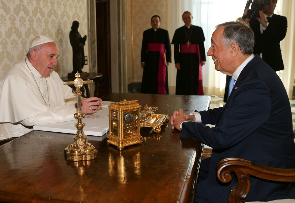 Papa Francisco recebeu Marcelo Rebelo de Sousa