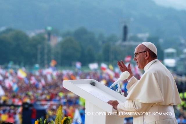 Papa Francisco discurso de boas vindas (28 jul)