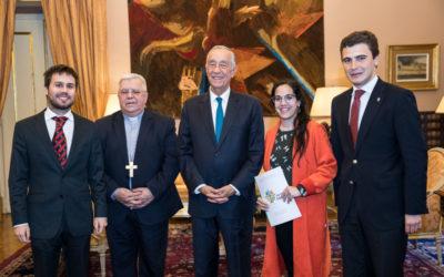 Presidente da República recebeu os 3 jovens portugueses que participaram no pré-sínodo