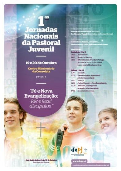 cartaz jornadas pastoral juvenil