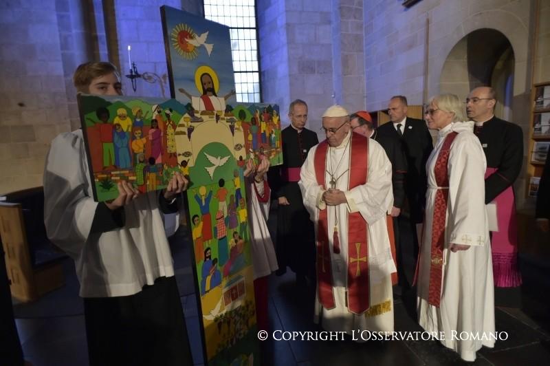 Logótipo da visita do Papa Francisco à Suécia