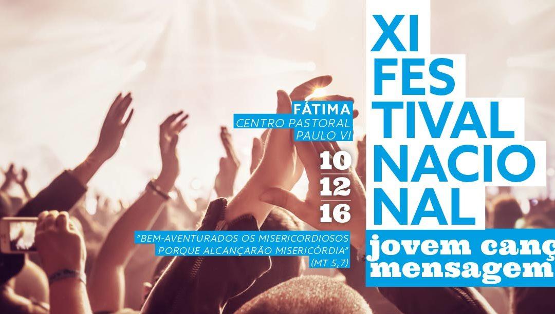 Festival Nacional Jovem Canção Mensagem '16 (cartaz/programa e regulamento)