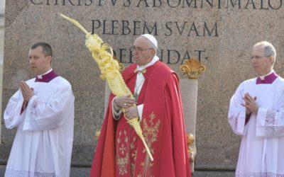 «Jovens, não vos envergonheis de manifestar o vosso entusiasmo por Jesus» – Papa, Domingo de Ramos 2019